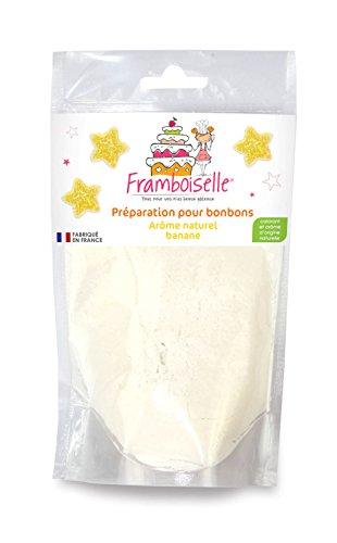 Framboiselle Préparation Bonbons Goût Banane 100 g - Lot de 4