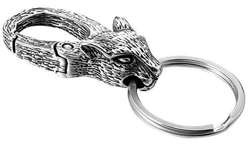 ziilay Herren Schlüsselanhänger mit Schlüsselring Karabiner 316L Viking Wikinger