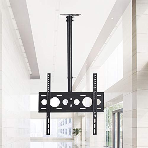 Exing TV Ceiling Bracker, Teleskop-Länge 100~200cm Fits Most 32-55 ' LCD LED-Plasma-Monitor Bildschirm Display 360 Grad Rotation Teleskop-Halterung TV-Wandmontage Stand 32 Cantilever Mount