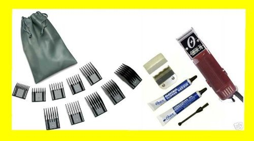 oster-classic-76-professional-clipper-w-2-blades-and-free-original-oster-10-pc-guide-comb-set-by-ost