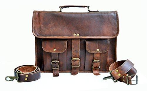 """14\"""" zoll groß Echtleder klassisch Laptop Bote tasche Büro Aktentasche College Tasche Vintage Leder Tasche für Damen und Herren"""