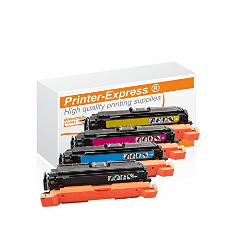 Printer-Express XL Toner 4Set ersetzt HP CE400X, CE401A, CE402A, CE403A, 507X, 507A für HP LaserJet Enterprise 500 color M 551 / MFP M 570 / M 575 Serie Drucker - Hp M551n-drucker Laserjet Color