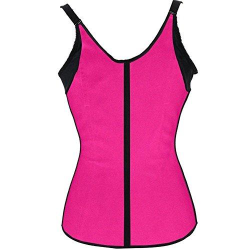 PULABO Latex Mezzo Trainer corsetti delle donne che dimagriscono Cincher Shaper corpo Rosa