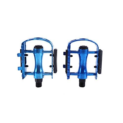 1 par de aleación de aluminio bicicleta pedales ciclismo pedales plataforma pedales para Bicicleta MTB bicicleta de carretera, azul