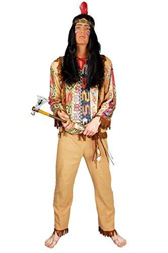 Herren Kostüm Indianer Krieger zu Karneval Fasching (Kostüme Indianer Krieger)