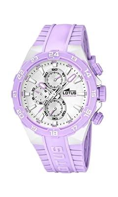 Reloj Lotus 15800/A de cuarzo para mujer con correa de plástico, color lila de Lotus