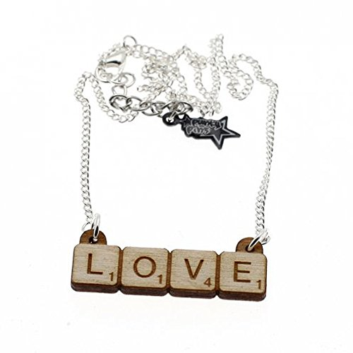 Punky Pins 'Love' Scrabble Necklace – Punky Pins 'Love' Scrabble Necklace