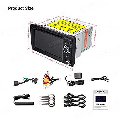 XTRONS-7-Android-90-4GB-RAM-64GB-ROM-Autoradio-mit-Touch-Screen-Octa-Core-Multimedia-Player-untersttzt-4G-WiFi-Bluetooth-DAB-OBD2-TPMS-Musik-Streaming-Plug-und-Play-FR-Audi-A3S3RS3