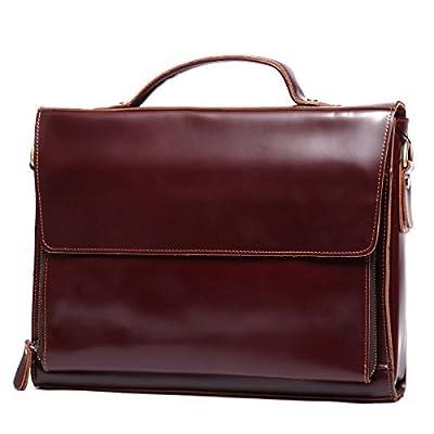 Leathario sac serviette en cuir hommes sac à main cuir sac messager sac ordinateur cuir veau pour hommes