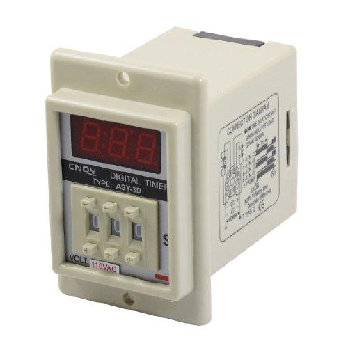 Aexit AC 110V Elektrisch 8 Pin 0.01-9.99 Skunde Digital- Timer Zeitverzögerung Relais Timer Beige ASY-3D