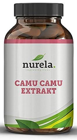 Camu-Camu Kapseln - Natürliches Vitamin C - 120 vegane Kapseln ohne künstliche Zusätze - 4 Monatsvorrat - Hergestellt in Deutschland -
