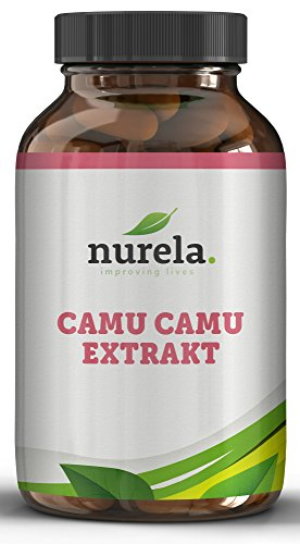 Camu-Camu Kapseln - Natürliches Vitamin C - 120 vegane Kapseln ohne künstliche Zusätze - 4 Monatsvorrat - Hergestellt in Deutschland - nurela