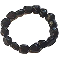 Black Obsidian Tumblestone Bracelet - Yoga - with Free Gift Bag preisvergleich bei billige-tabletten.eu