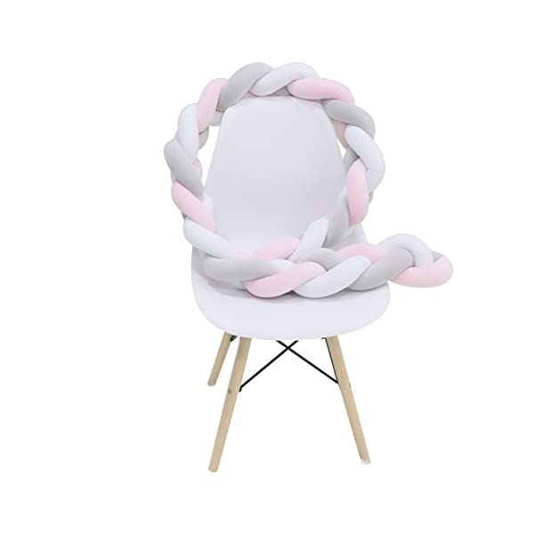 elegantstunning Baby Crib Bumper Knotted Braided Plush Nursery Pillow Cushion elegantstunning Made of high quality material, soft and comfortable, safe, durable. Avoid your baby's head, legs or hands bumping into crib, keeps your little ones safe. Fits all baby cribs or toddler stroller carriage, flexible to use. 16