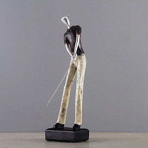 XMDNYE Europa Harz Golf Statue Handwerk Golf Mann Figuren Handwerk Sport Ornamente Billard Spieler Werbegeschenk Wohnkultur Zubehör -