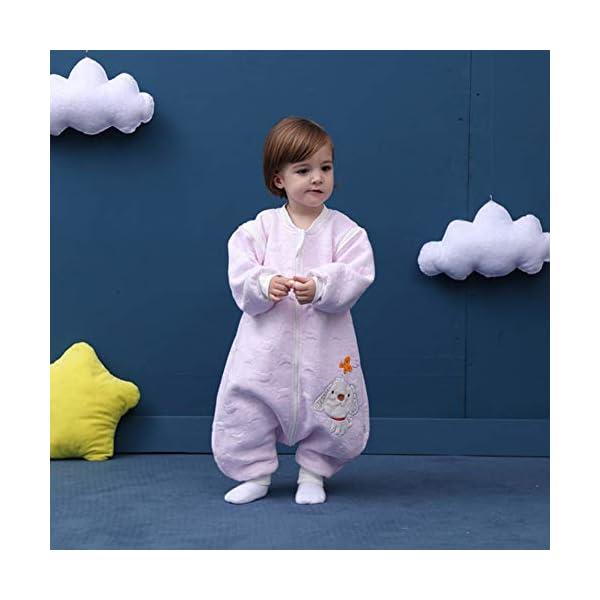 BabyFat Sacos de Dormir/Pijama para Bebé Niño Unisex Otoño/Invierno 2.5 Tog – Mono – Beige Label 80(0-1T)