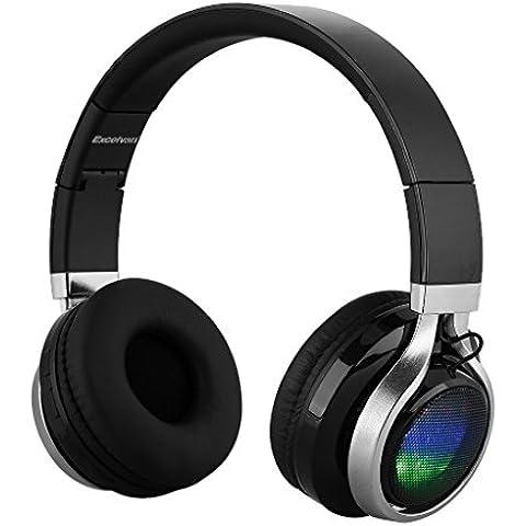 Excelvan BT9916 - Auricular Diadema Inalámbrico Bluetooth LED Estéreo Recargable Micrófono Incorporado para Smartphone Tablet Pc