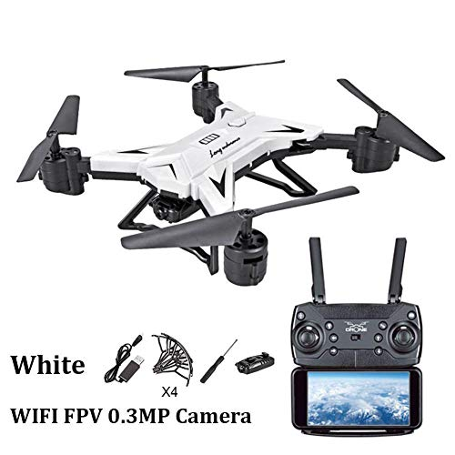 Waroomss Drohne mit Kamera, WiFi 1080P HD Kamera Live Video und GPS Return Home 2,4 GHz 4 CH 4 Achsen Gyro RTF RC Quadcopter-Follow Me, Höhe halten, intelligente Batterie, Lange Steuerdistanz (Rtf-mini-quad)