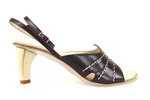 LATITUDE FEMME Zapatos de salón mujer marrón oscuro cuero AK86 (35 EU) zs7Cg