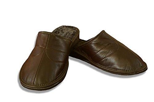 SamWo , Chaussons pour homme marron foncé
