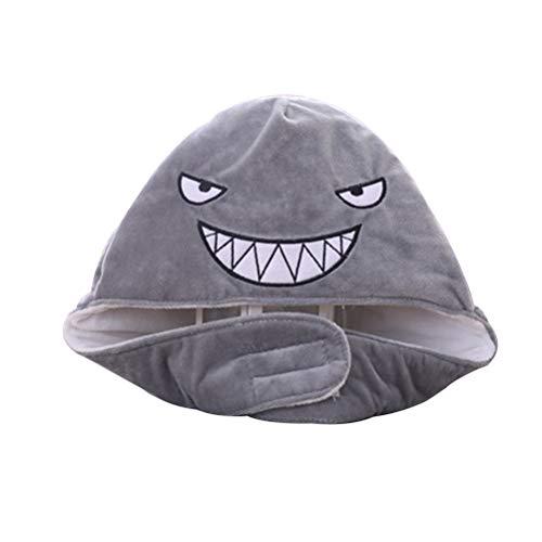 Einfaches Machen Zu Hai Kostüm - TOYANDONA Plüsch-Tierhut-Nette Haifisch-Kappe angefüllte justierbare Wal Headwear lustige Partei-Foto-Stützen