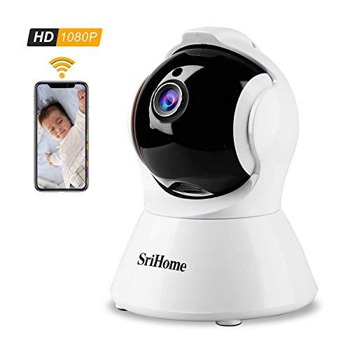 1080P FHD WLAN IP Kamera, Monitor-Baby/Haustier/Haus, Überwachungskamera mit Nachtsicht, Bewegungserkennung, Zwei-Wege-Audio,Sicherheit Innenkamera