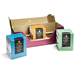 Struben Herkunftsschokolade Geschenkbox - Jede Struben Origin- Herkunftsschokolade hat seine originale und vielschichtige Aromenvielfalt - 2x16 Dunkle schokolade Momenten | 1x16 Milch schokolade