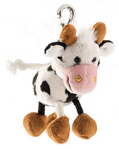 Schaffer 0241 Kuh Anhänger, unisex-child, Weiß-schwarz, ca. 11 cm