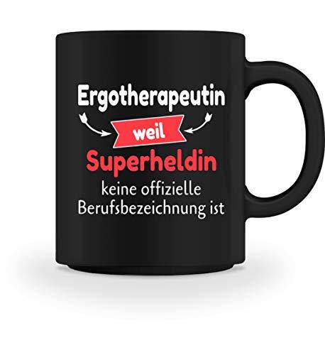 Ergotherapeutin Shirt · Geschenkidee Superheldin Ergo · Die Super-Ergotherapeutin Spruch - Tasse -M-Schwarz -