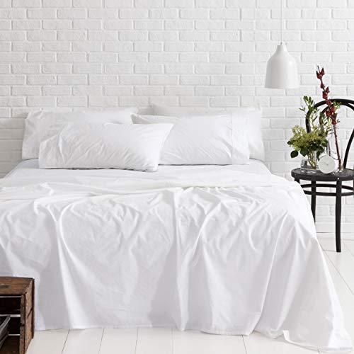 Livenza Exklusive Kollektion Ägyptische Baumwolle Bettlaken-Set Passend für Matratzen bis 48,3cm Tief 1000TC King Weiß (1000 Tc Blatt)