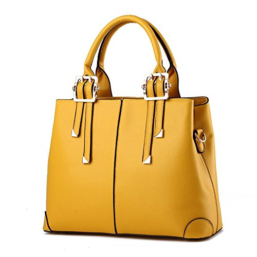 HQYSS Borse donna Ladies in pelle PU Borsa a tracolla a spalla , rose red lemon yellow