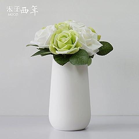 Beata. F einfach Craft Ornaments Hochzeit Creative Wave Mund Querstreifen Burning Keramik Vasen Ornament.