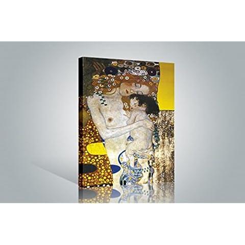 Gustav Klimt - Las Tres Edades De La Mujer, Detalle Cuadro, Lienzo Montado Sobre Bastidor (120 x
