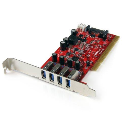 StarTech.com 4 Port USB 3.0 PCI Schnittstellenkarte - PCI SuperSpeed USB 3.0 Controller Karte - 2 x USB3.0 (Buchse) je 1x SATA/SP4 intern (Startech Usb 3 Hub)