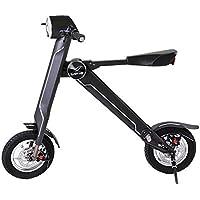 LETFF Bicicleta Eléctrica Plegable para Adultos 12 Pulgadas, 36V 240W Mini Vespa Eléctrica Portátil para