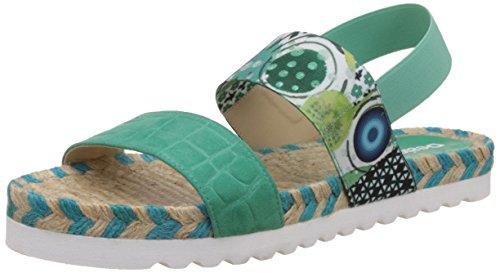 DesigualShoes_bio Formentera - Sandali donna , Turchese (Turquoise (5024)), 38 EU