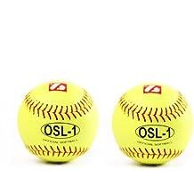 Barnett - Pelotas de alta competición para softball (OSL 1, 2 unidades), color amarillo