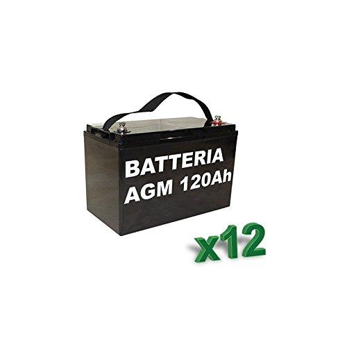Luminor-Batterie 120Ah 12V AGM Lotto 12Stück Photovoltaik Elektrofahrzeuge-lum120-12x 12