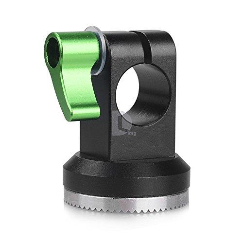 LanParte Support de barre 15 mm avec rosace serrure Arri Collier de serrage pour appareil photo DSLR Rig Système Arri dents-Bras EVF Support