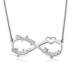 Idea Regalo - Collana con nome personalizzato Collana a forma di cuore per il regalo del tuo amante mamma figlia