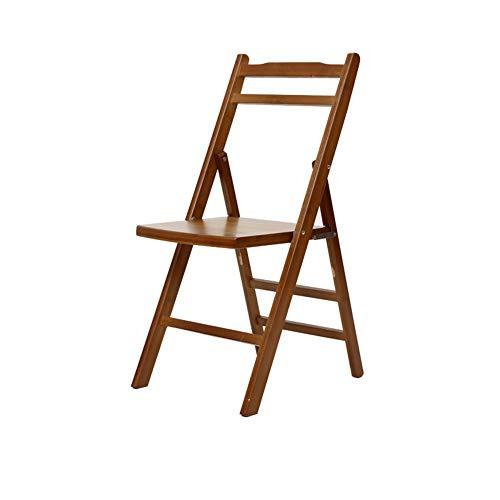 Home Decoration-G.TZ Chaises Pliantes en Bois-Chaise De Bureau/Chaise De Bureau-Chaise De Salle À Manger en Bambou -Dimensions: 79 * 38 * 44 Cm (Couleur Café)