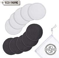 Almohadillas de bambú reutilizables para desmaquillar | Almohadillas orgánicas lavables con bolsa de lavandería | 10...