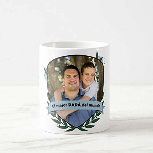 Tazas Personalizadas con Tus Fotos Ideales para el Día del Padre | Tazas de cerámica Blanca Taza Original para el Día del Padre, Cumpleaños, Navidad o Cualquier Fecha Especial