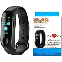 Ecrebi2 Chiefmount M3 Intelligence Bluetooth Smart Watch/Smart Bracelet/Health Band/Activity Tracker/Bracelet/Fitness Band/M3 Band/with Heart Rate Sensor Compatible for All Androids and iOS Phone/Tablet