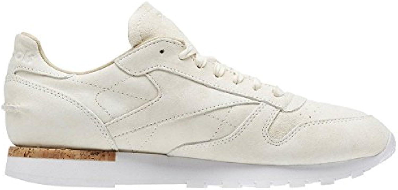 Reebok CL Leather Beige White  Billig und erschwinglich Im Verkauf