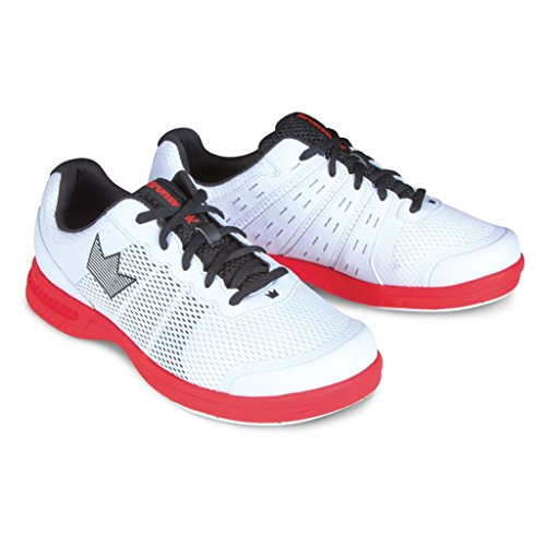 Brunswick mens Fuze bowling shoes- bianco/rosso White / Red