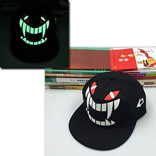 Kostüm Abba Männlich - mlpnko Leuchtende Kappe des männlichen und weiblichen Leuchtstoffkappenpaar-Hip-Hop-Hut-Hip-Hop-Hutes flach entlang dem Baseballhutmonster justierbar