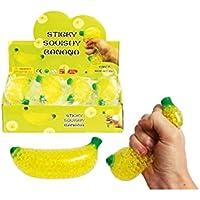 LIGHTER HOUSE™ Banana Shape Mesh Stress Balls - Non-Toxic Grape Squishy Ball - Fun Kneading Fidget Toy for Adults & Kids…