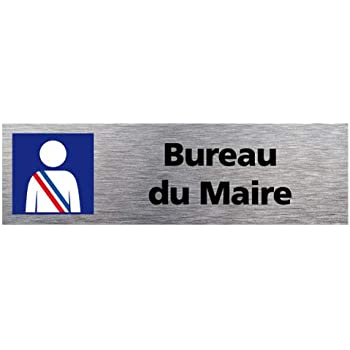 Signal/étique.biz France Sticker de Porte Attention au Chien Dimensions 170 x 50 mm Aspect Aluminium Bross/é