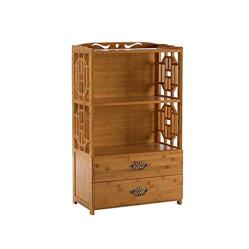 sexy Simple Moderne 3-tier Bambou Tiroir Bibliothèque Combinaison Étagère Salon Solide En Bois Étagère ( taille : 70*29*100cm )
